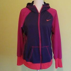 Nike Therma-Fit zip up hoodie pink purple size L